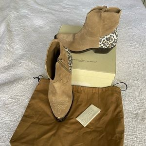 New Golden Goose Deluxe ankle Western Boot Tan 8